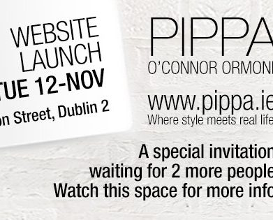PRESS RELEASE – Pippa O Connor Ormond launches pippa.ie