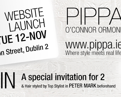 WIN Special Invitation for 2 to Launch of www.pippa.ie