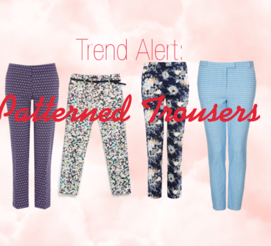 TREND ALERT: Patterned Trousers