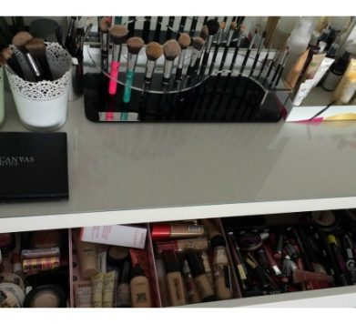 My Make Up Table and Storage!