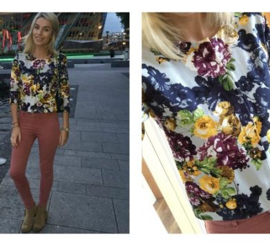 What I Wore 'Autumn Floral & Jeans'
