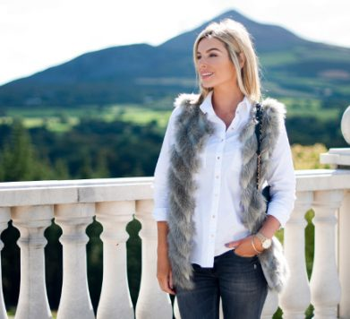 The White Shirt & Faux Fur!