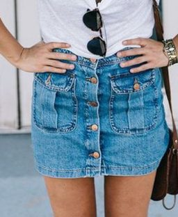 3 Ways to Embrace the Denim Skirt