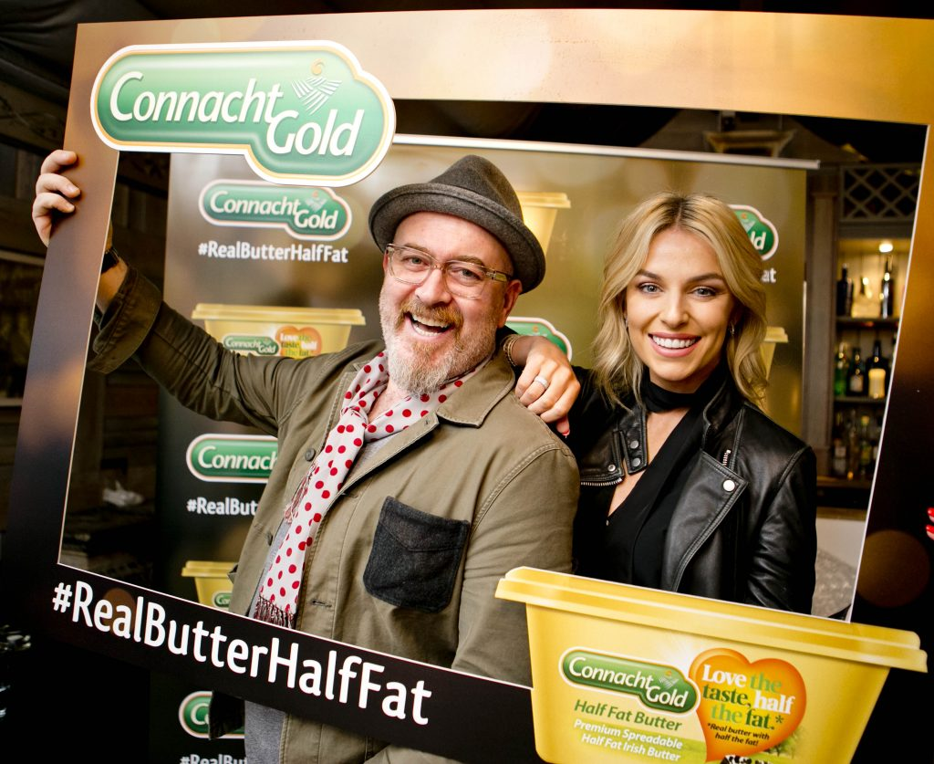 Classy new TV campaign for Connacht Gold. Pippa O'Connor stars in first TV ad for Connacht Gold Half Fat butter, directed by Barry McCall. Aurivo Consumer Foods have launched a new TV commercial and nationwide advertising campaign for its Connacht Gold brand; conveying the distinctiveness of its half fat butter product. The campaign, which features Connacht Gold ambassador— businesswoman and blogger Pippa O'Connor, is designed to educate consumers about Connacht Gold's Half Fat butter. 'There are some things you don't expect to find in a tub' is a key theme of TV ad, which highlights, in series of clever reveals, that Connacht Gold is real butter, even though it's in a tub format. Photo Chris Bellew / Copyright Fennell Photography 2016