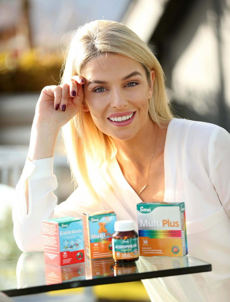 No Repro Fee. Pippa O'Connor, pictured at the launch of the Sona 'Future Proof Your Health' campaign which is calling on the nation to take care of their future wellbeing. Pippa joins Sona, Ireland's leading producer of nutritional supplements and herbal remedies to encourage people across the country to care for their future self, health and happiness now. Pic. Robbie Reynolds