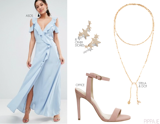 a3bde3a7e1 wedding-guest-2. Light blue ruffle maxi dress – ASOS ...