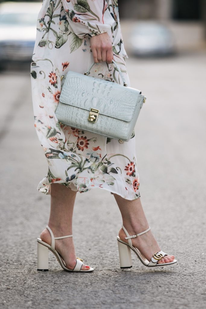 brahmin-danielle-satchel-sea-glass-melbourne-gucci-white-marmont-block-heel-sandals