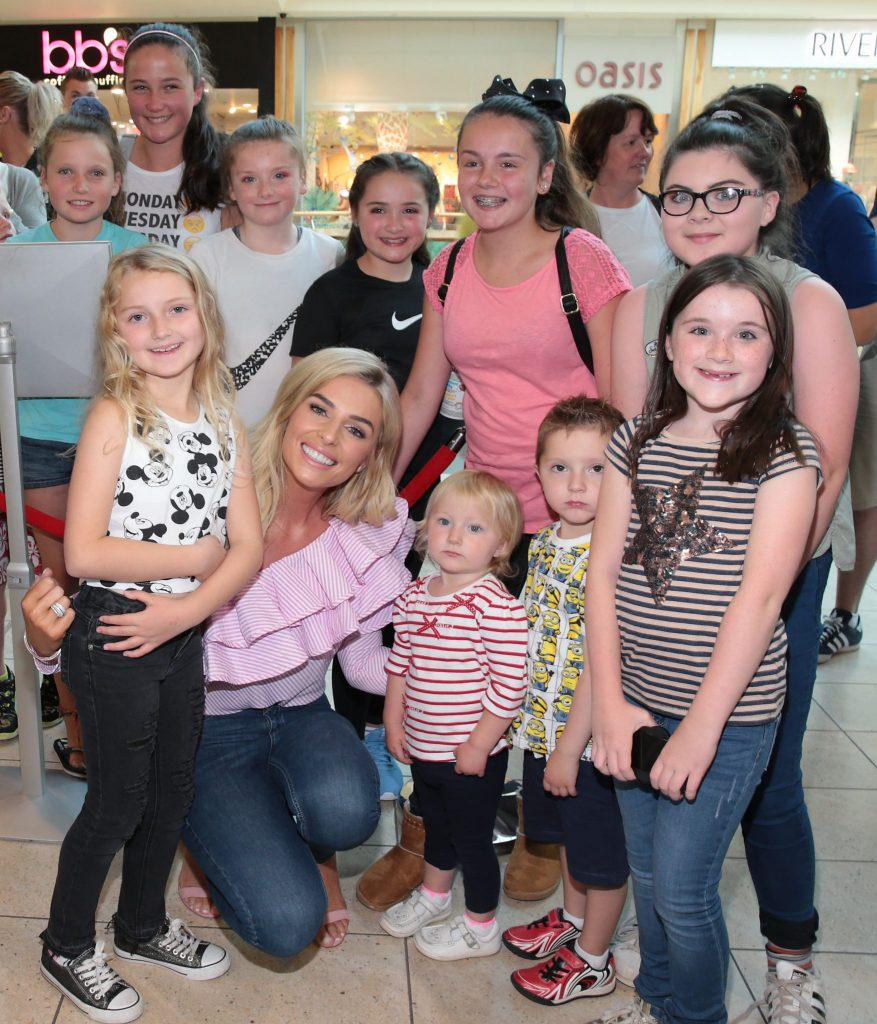 Pippa O Connor meets fans at the opening of Pippa O Connor's POCO by Pippa Pop Up Shop at Mahon Point Shopping Centre Cork Pic Brian McEvoy No Repro Fee for one use