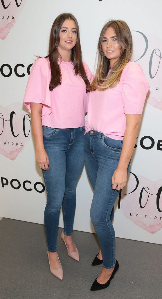 Rebecca Buckley and Kimberley Madden pictured at the opening of Pippa O'Connor's POCO by Pippa Pop Up shop at Mahon Point Shopping Centre, Cork. Picture: Brian McEvoy No Repro fee for one use