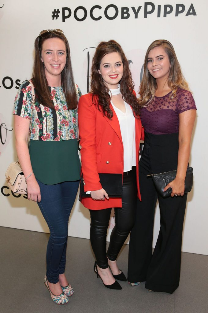 Helen Gilroy,Eva Spitere and Elle Condon pictured at the opening of Pippa O'Connor's POCO by Pippa Pop Up shop at Mahon Point Shopping Centre, Cork. Picture: Brian McEvoy No Repro fee for one use