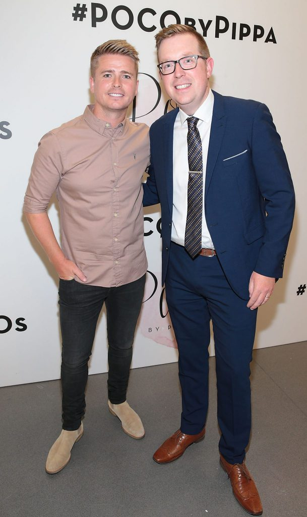 Brian Ormond and Ray Kelleher pictured at the opening of Pippa O'Connor's POCO by Pippa Pop Up shop at Mahon Point Shopping Centre, Cork. Picture: Brian McEvoy No Repro fee for one use