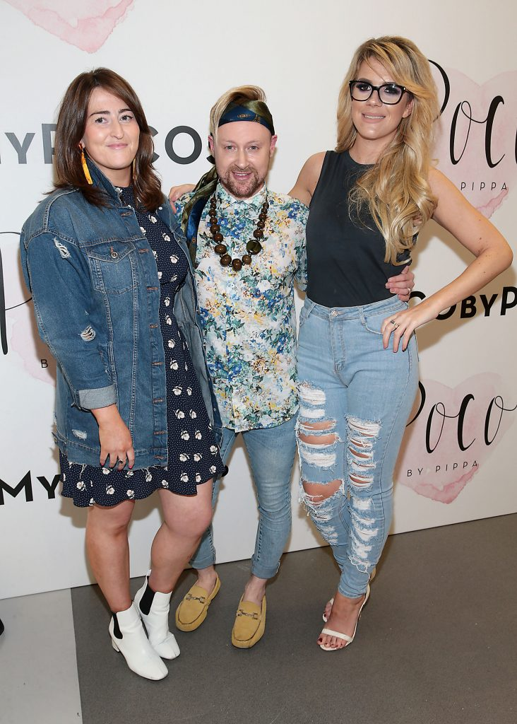 Natazhsa Crowley , David Babington and Brenda Dennehy pictured at the opening of Pippa O'Connor's POCO by Pippa Pop Up shop at Mahon Point Shopping Centre, Cork. Picture: Brian McEvoy No Repro fee for one use