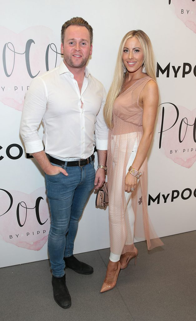 Kieran Walsh and Lisa Jordan at the opening of Pippa O'Connor's POCO by Pippa Pop Up shop at Mahon Point Shopping Centre, Cork. Picture: Brian McEvoy No Repro fee for one use