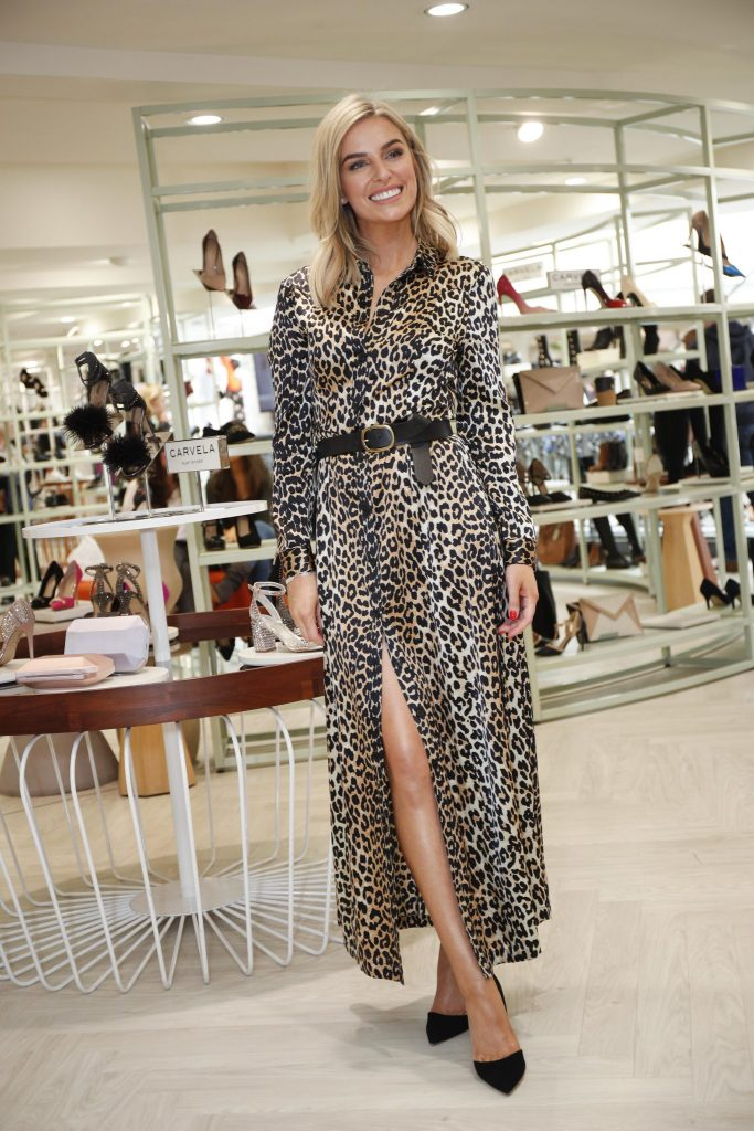 "*** NO REPRODUCTION FEE *** DUBLIN : 3/9/2017 : Pictured was Pippa O'Connor ahead of the 'Step into Style' event in the newly opened Arnotts Shoe Gallery. The styling segment took place in the Shoe Gallery on First Level where Pippa showcased her ""must have"" shoes for the AW season, and styled them using pieces from her favourite brands from the AW17 womenswear collections in her own, signature Pippa style. Brands from the Shoe Gallery included some of the newest additions by Jonak and Michael Kors, while Pippa also chose from some of the newest brands in the womenswear department, including SET, Samsoe & Samsoe, Millie Mackintosh, Suncoo and Max & Co.  Picture Conor McCabe Photography. MEDIA CONTACT : swilliams@arnotts.ie"