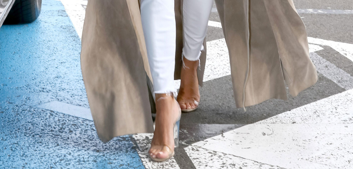 Tuesday Shoesday: Leg-Lengthening Clear Heels